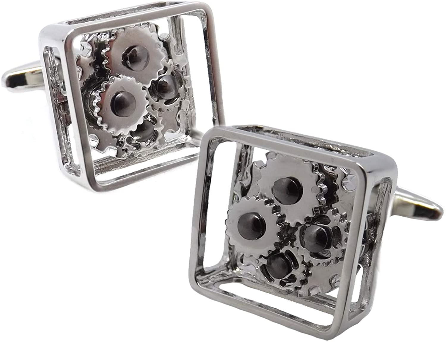 Cufflinks Direct Silver Steampunk Watch Movement Mens Stylish Wedding Gift