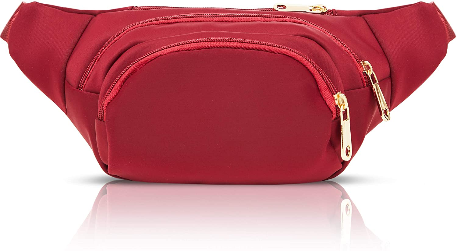 Red Plus Size Fanny Pack with Adjustable Strap 34-60 Inches, Expands to 5XL