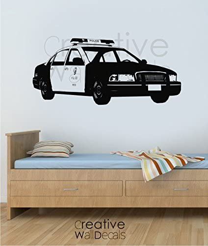 Vinyl Wall Decal Sticker American USA Police Car Police Man Kids Man Gift R1838