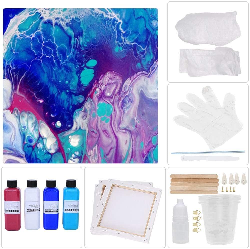 Aosiyp Fluid Paint, Painting Pigment Children DIY Toys Fluid Drawing Pigment Art Supplies(Type C)