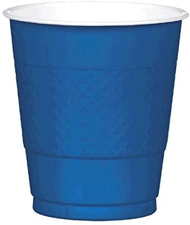 Amscan 43036.74 Navy Blue Plastic Cups | 12 oz. | 200 Ct