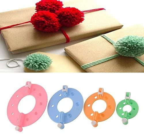 8pcs 4 Sizes Easy Wrap Pompom Pom-pom Maker Fluff Ball Weaver DIY Wool Knitting Needle Craft Craft Tool Kit Set(Random Color)