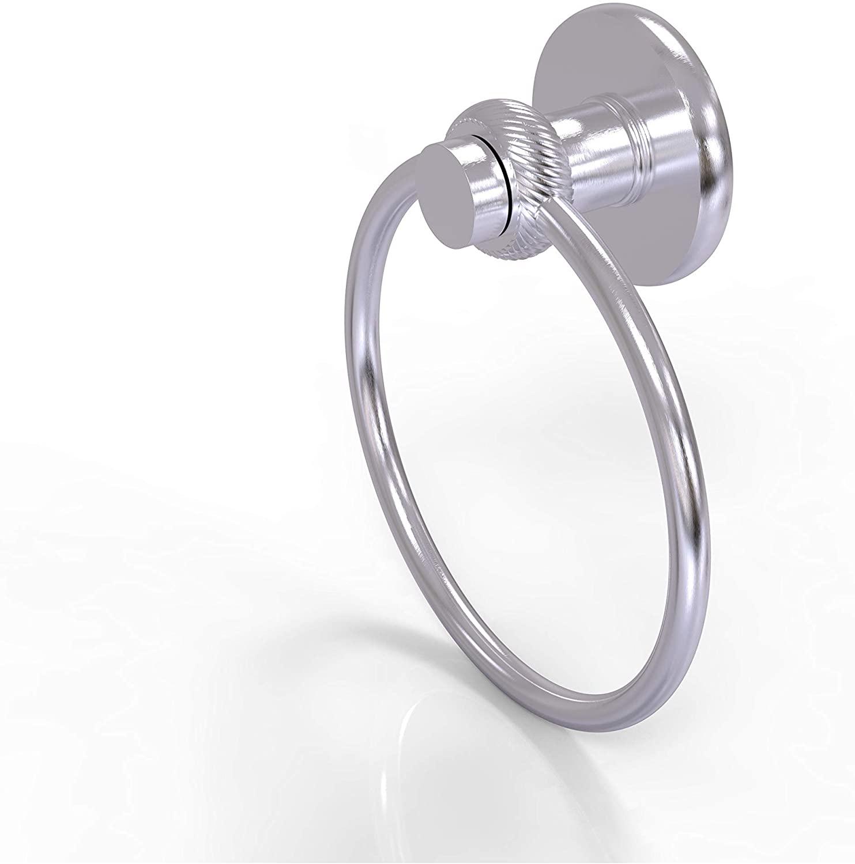 Allied Brass 916T-SCH Mercury Collection Twist Accent Towel Ring, Satin Chrome