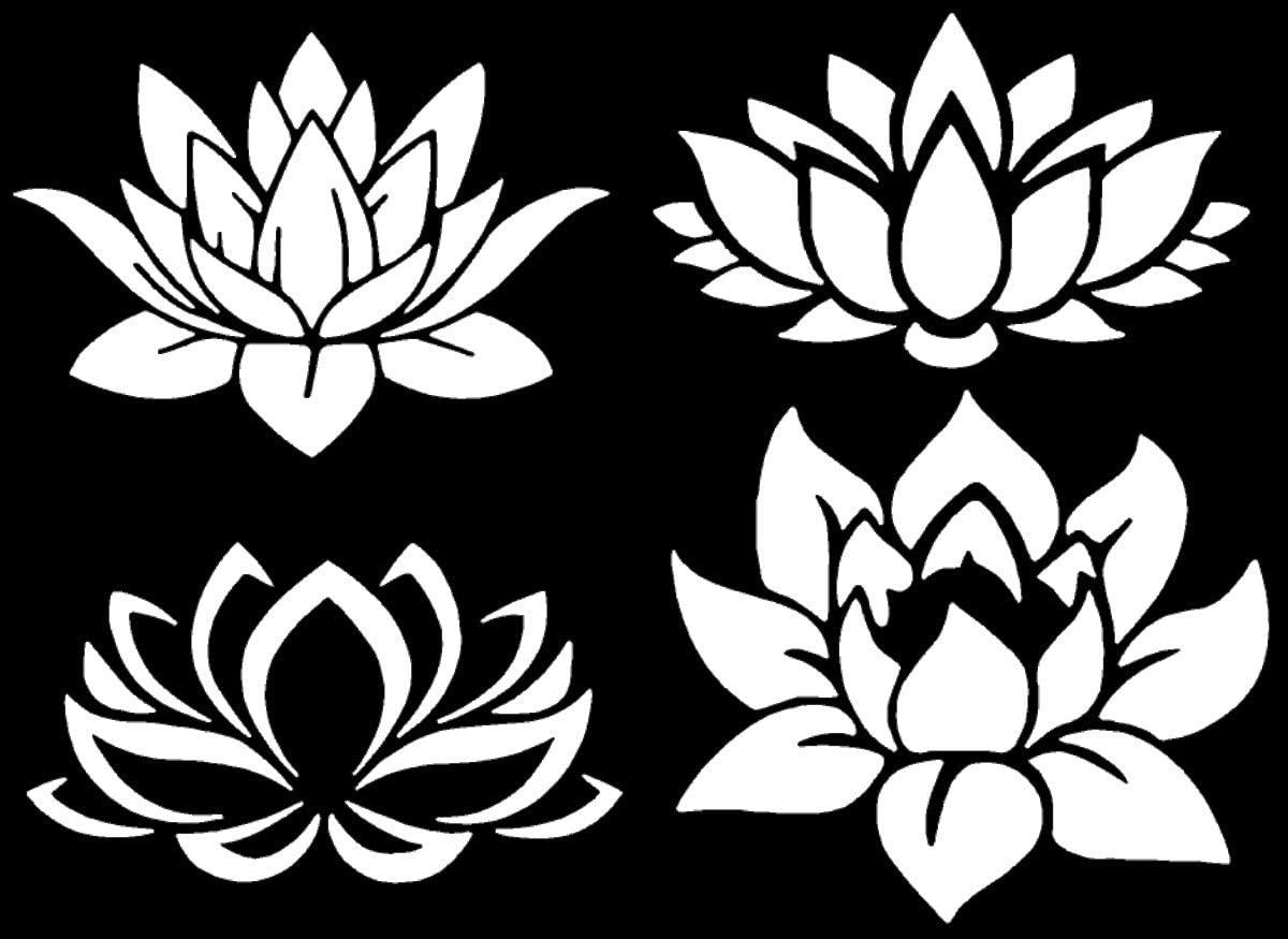 Lotus Flower Decal 4 Pack (Lotus White)