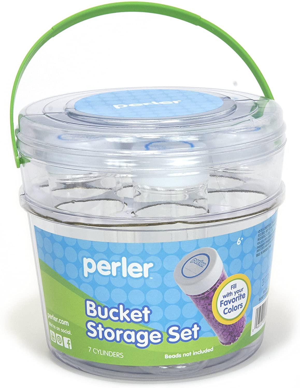 Perler Storage Bucket Beads Container Set, 8 pcs