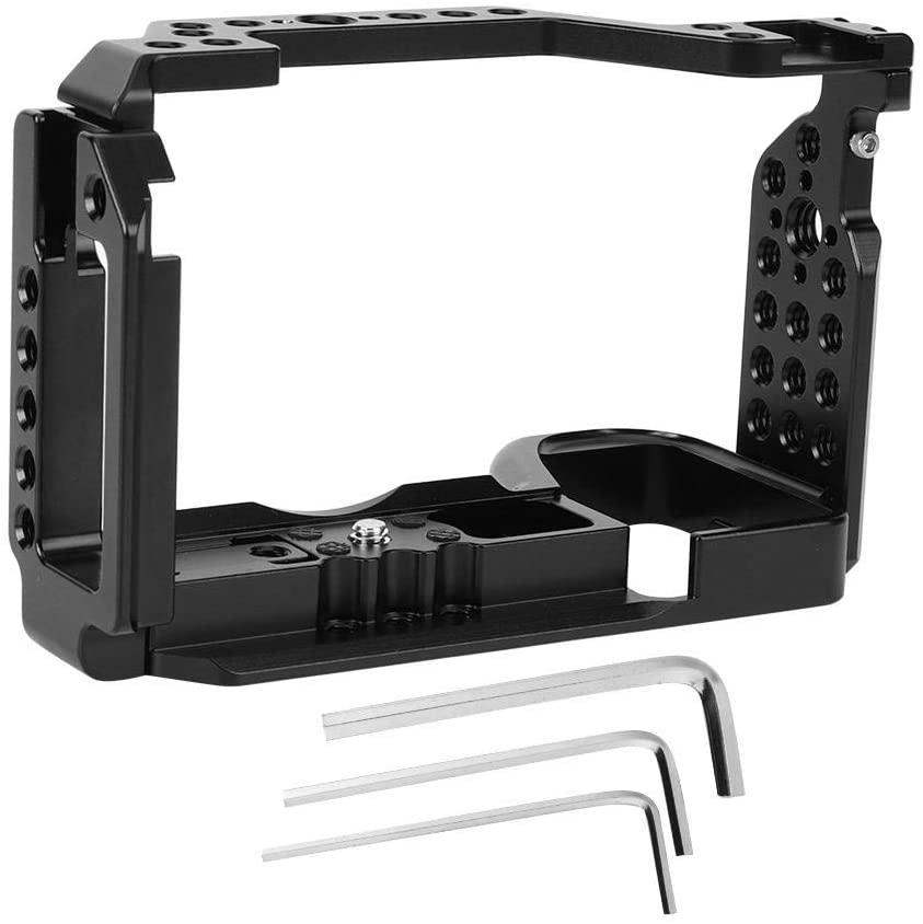 Aluminium Alloy Camera Cage Photography Video Multihole Aluminium Alloy Camera Cage for A6600 Mirrorless Cameras