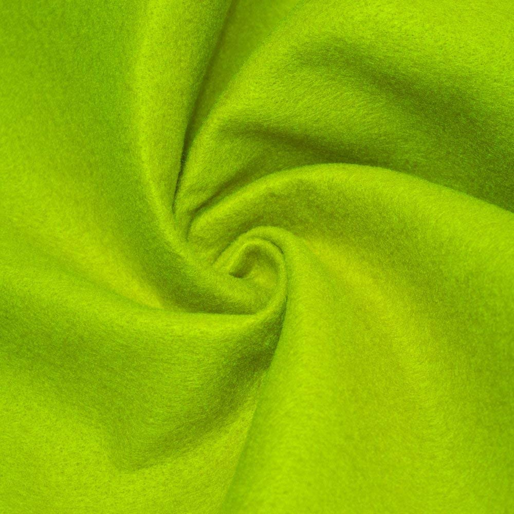 """AK TRADING CO. 72-Inch Wide 1/16"""" Thick Acrylic Felt Fabric for Arts & Crafts, Cushion and Padding, Sewing Projects, Kids School Projects, DIY Projects & More. - Lime, 1 Yard"""