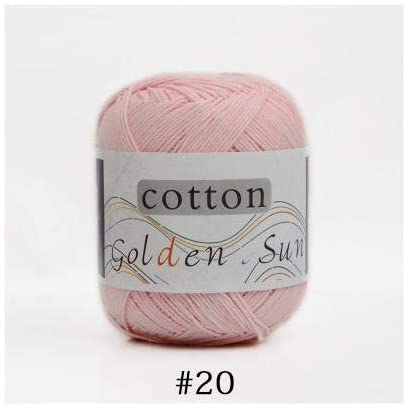LY 50g/Ball Worsted Soft Baby Yarn 100% Cotton Yarn Hand Knitting Yarn Crochet Cotton Thread Infant Sweater Blanket (20)