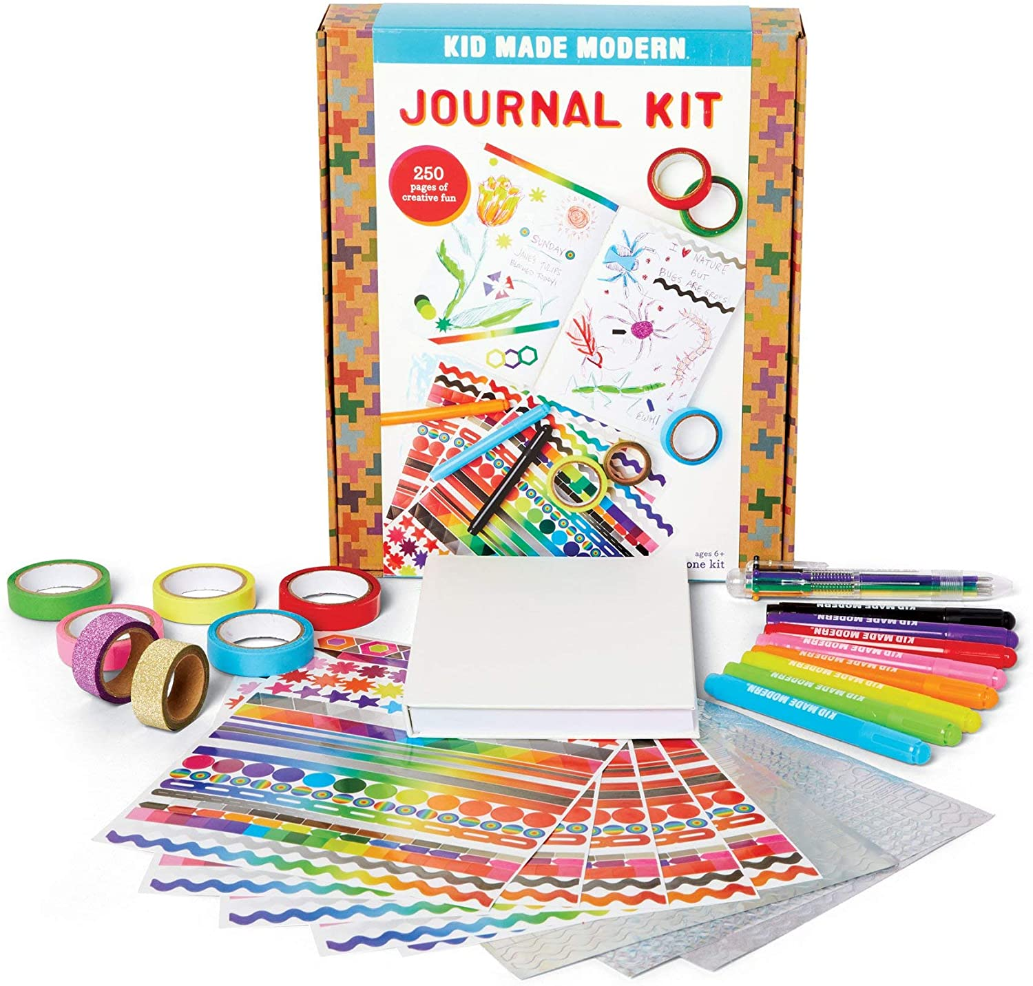 Kid Made Modern Journal Craft Kit - Draw and Write Kid Journal, Creative Art Supplies
