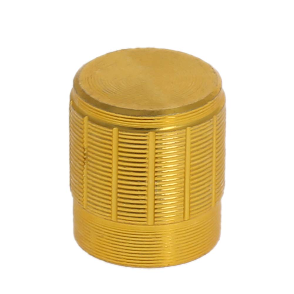 Fielect 10Pcs 6mm Insert Shaft Aluminium Alloy Potentiometer Volume Control Rotary Knob Gold