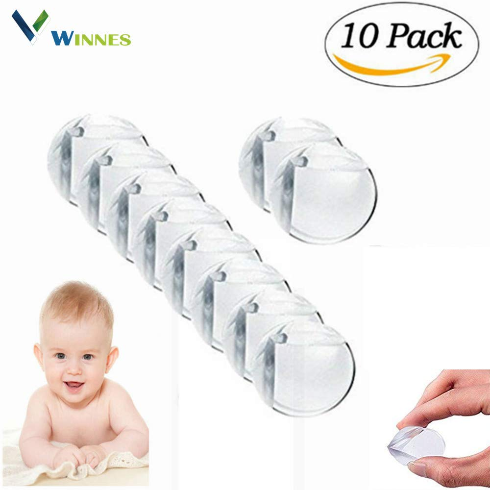 Winnes 10 Pack Baby Safety Clear Corner Guards, Anti-Collision Edge Corner Guard Protector, Furniture Sharp Corners Cushion, Keep Children Safe