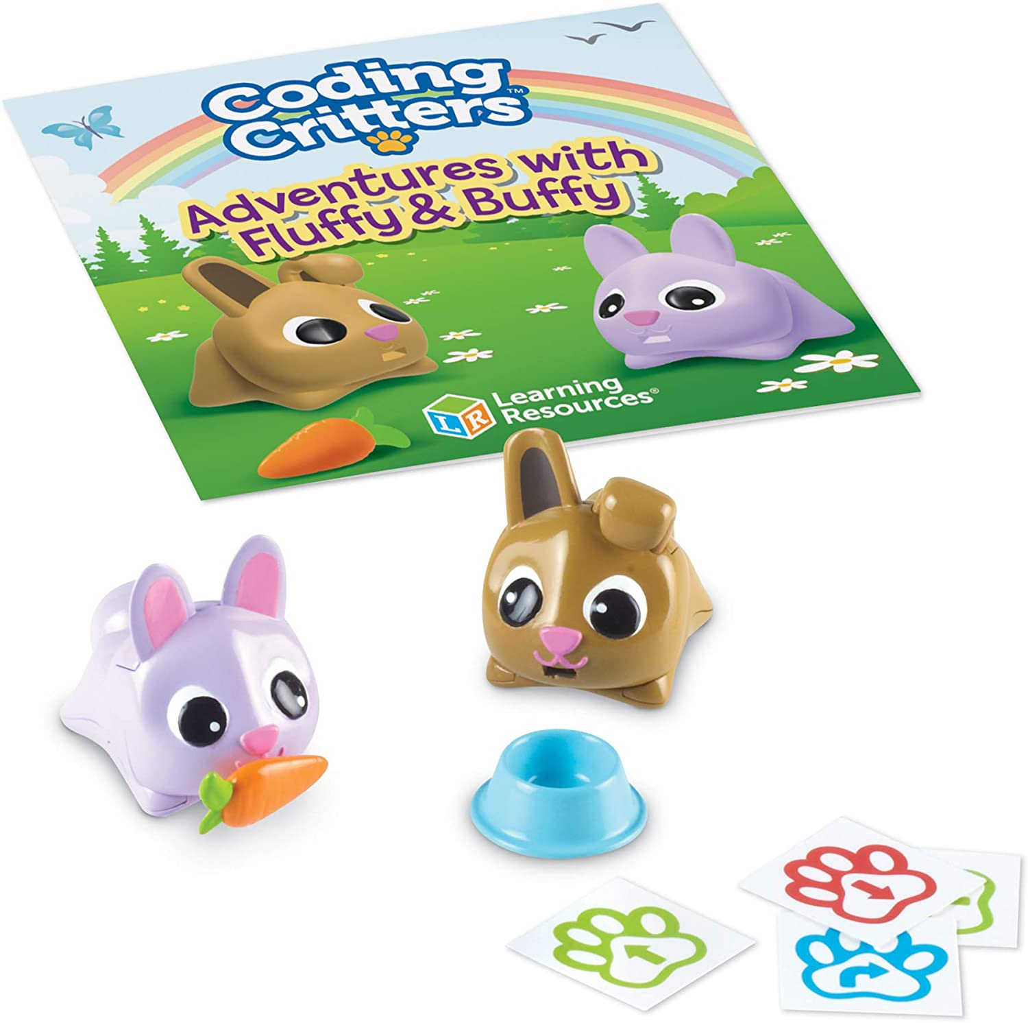 Learning Resources Coding Critters Pair a Pets Bunnies Fluffy & Buffy, Early STEM Coding Toy, Interactive Pet, Ages 4+