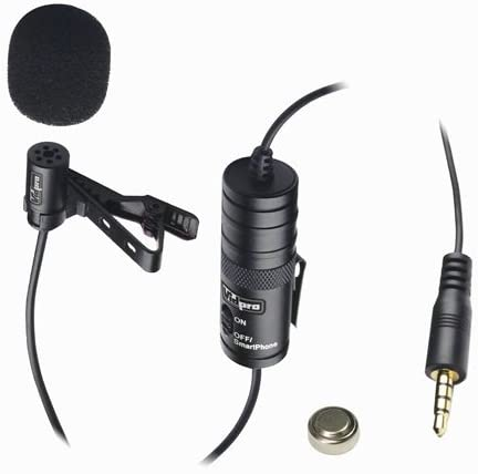 Kyocera E6710 Cell Phone External Microphone Vidpro XM-L Wired Lavalier microphone - 20' Audio Cable - Transducer type: Electret Condenser