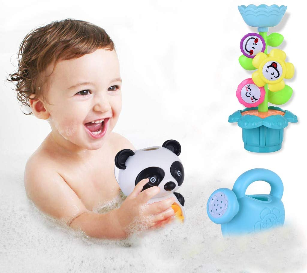 Little Story Baby Toddler Bath Toy Set Flower Waterfall Water Park Fun Bath Toy Set Shipped in The US, Arrived Quickly