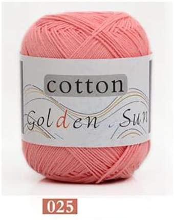 LY 50g/Ball Worsted Soft Baby Yarn 100% Cotton Yarn Hand Knitting Yarn Crochet Cotton Thread Infant Sweater Blanket (25)