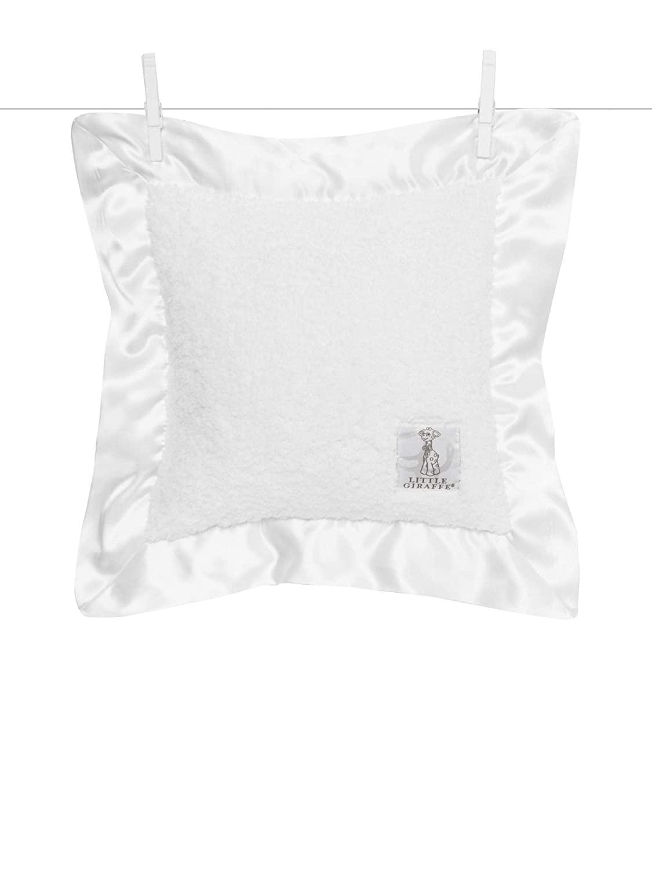 Little Giraffe Chenille Pillow, 14 Inch x 14 Inch, White
