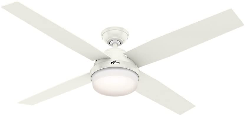 Hunter Dempsey Indoor Ceiling Fan with LED Light and Remote Control, 60
