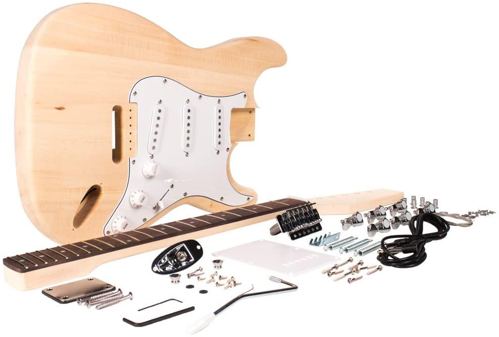 Seismic Audio - SADIYG-01 - Premium Classic DIY Electric Guitar Kit - Unfinished Luthier Project Guitar Kit