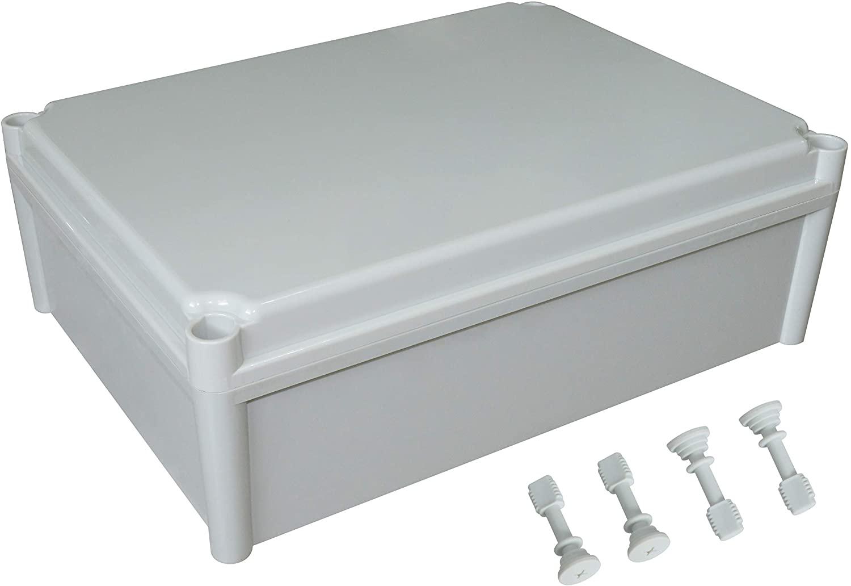 LeMotech Waterproof Dustproof IP67 Junction Box DIY Case Enclosure Gray 15 x 11 x 5.1 inch (380 x 280 x 130 mm)