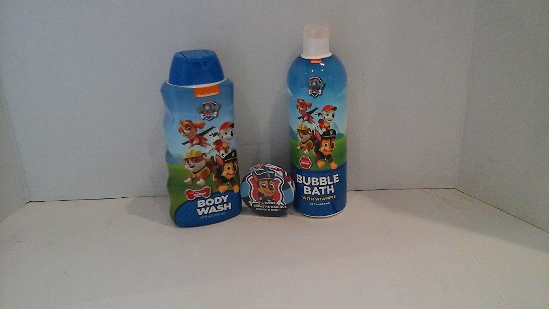 PAW Patrol 3 Piece Bundle Includes Bubble Bath 16OZ, Body WASH 12 OZ, 1 Magic Towel