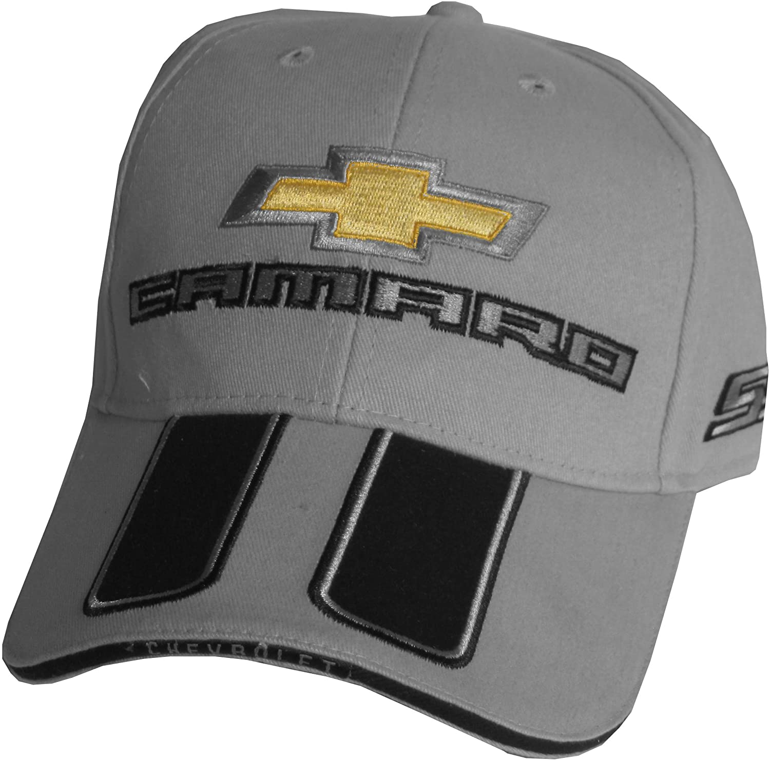Camaro Hat SS Bowtie Cap Gray - Bundle with Driving Style Decal