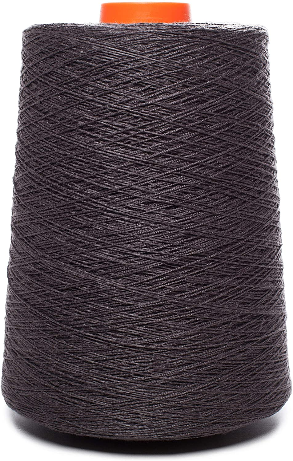 Lusie's Linen Yarn - 100% Linen - 1.15 lb (18oz) Cone - Anthracite Gray - for Weaving, Crocheting, Knitting, Embroidery (4-PLY)