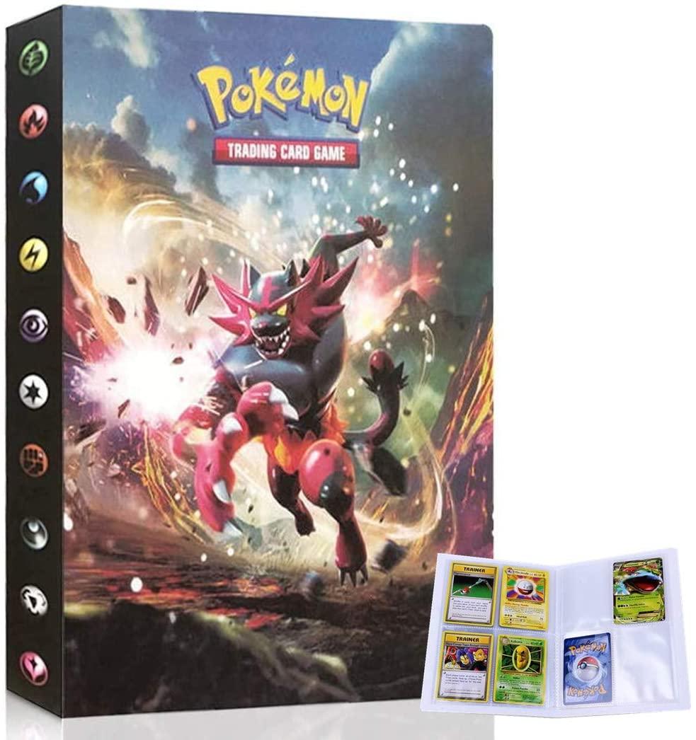 UHIPPO Album for Pokemon Cards, Pokemon Trading Card Protector Sleeves, Pokemon Card Holder Binder, Album Binder for Pokemon Card, Hold 240 Cards / Incineroar