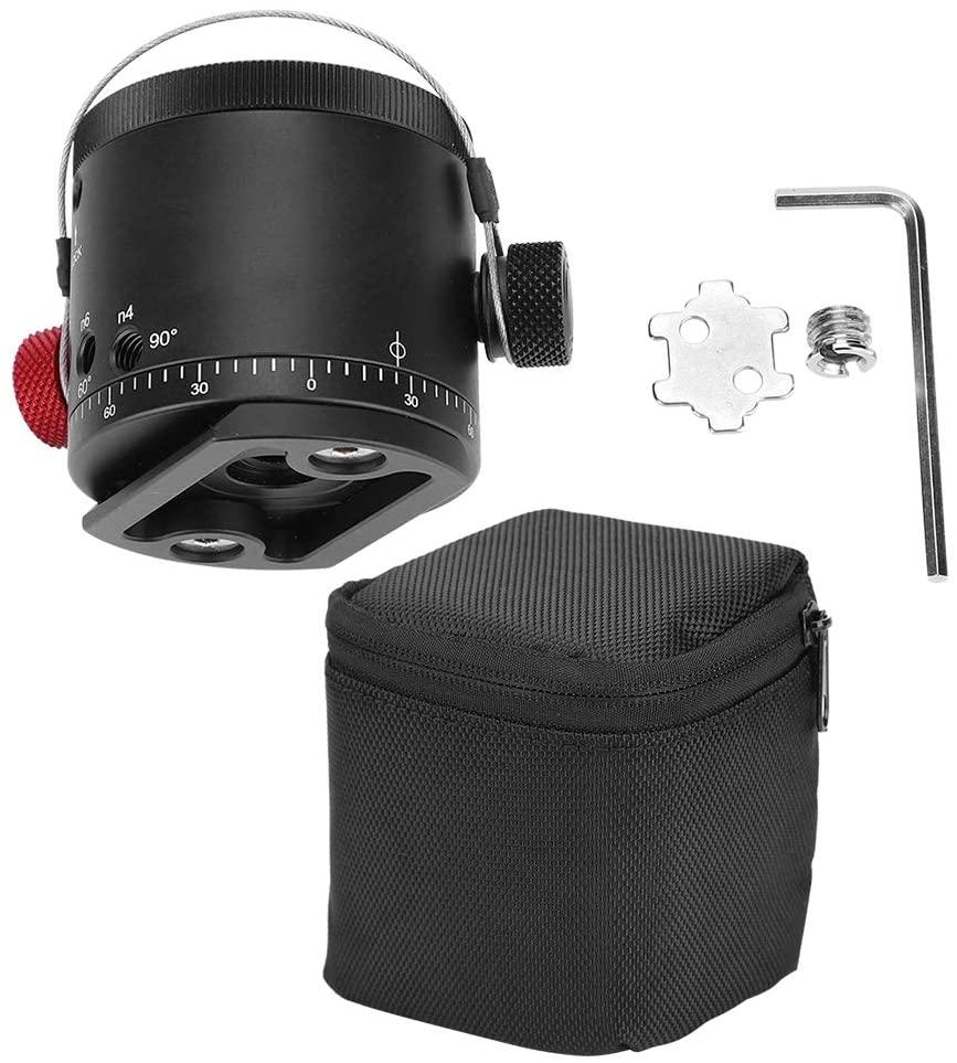 Xinwoer Universal 360 Degree Panoramic 10 Stops Click Indexing Rotator Ball Head for Camera Tripod