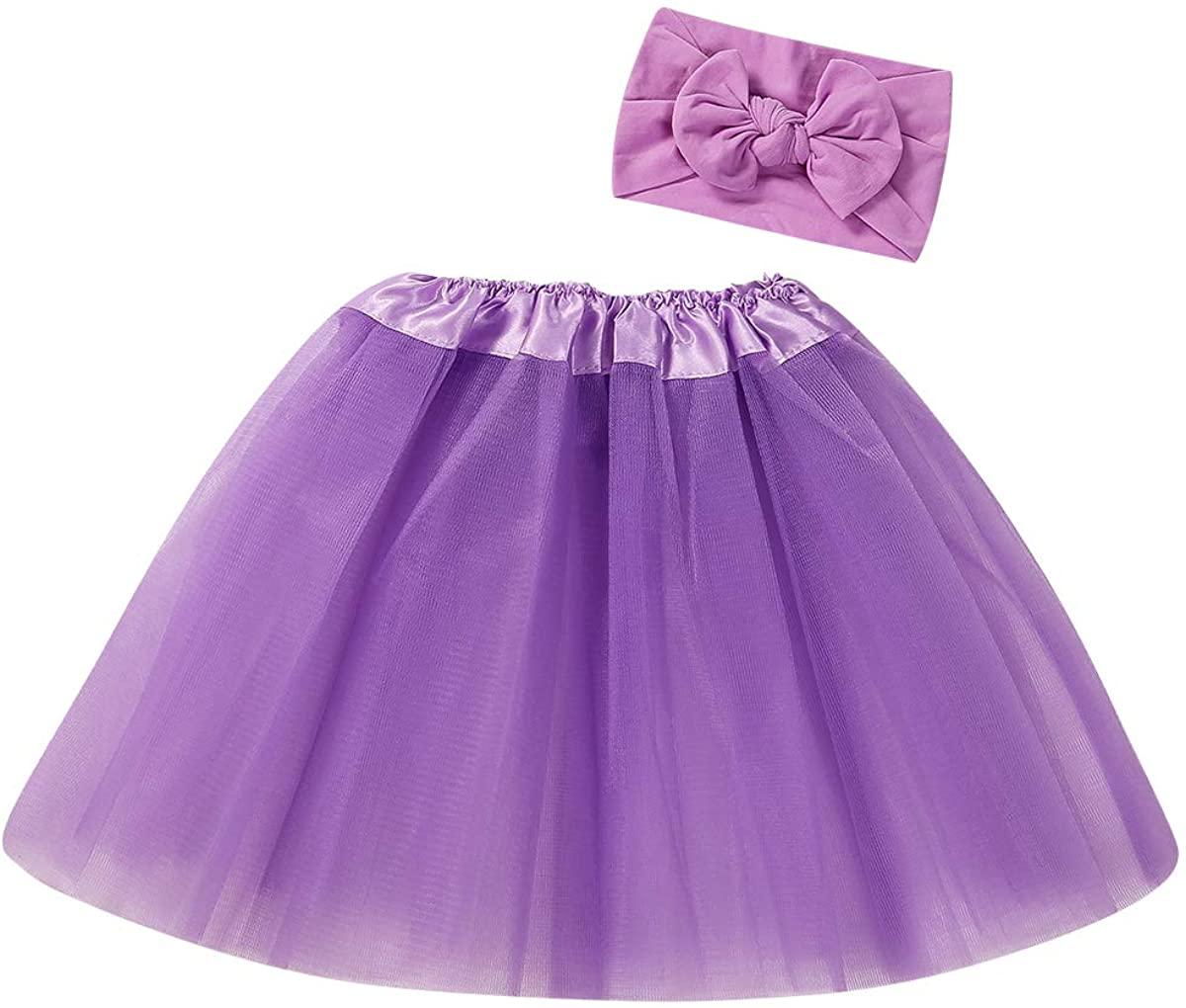 Newborn Baby Girl Tutu Skirt Headband Photo Prop Cute Infant Princess Costume Baby Clothes Outfit Set