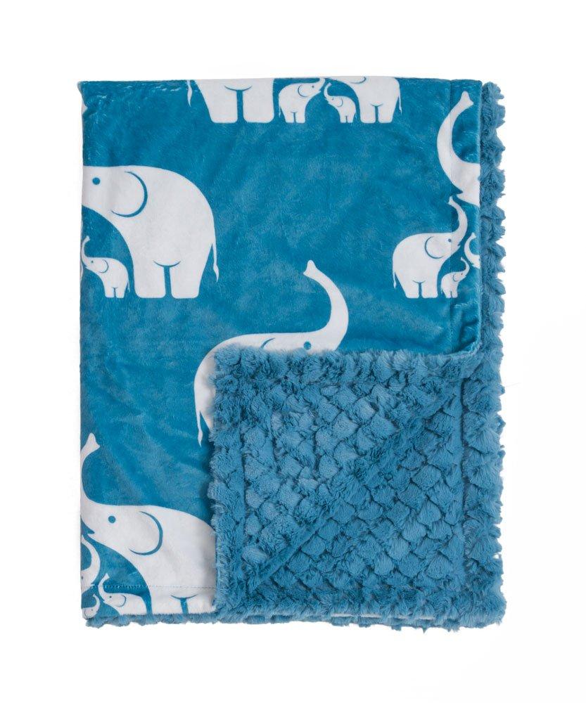 Baby Laundry Coastal Blue Elephant Minky Baby Blanket (27
