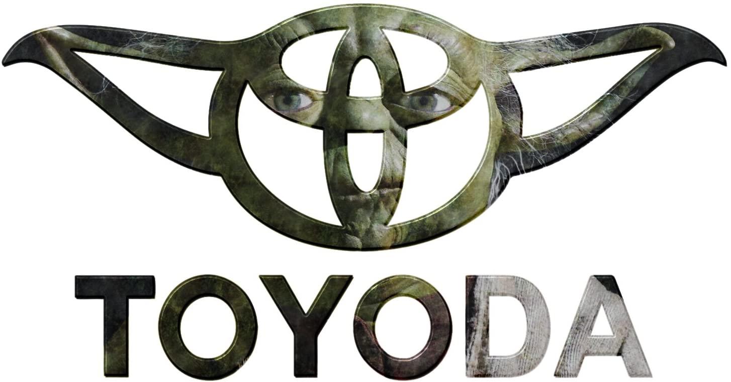 Bargain Max Decals Toyoda Parody Yoda Inspired Ears Window Laptop Car Sticker 5