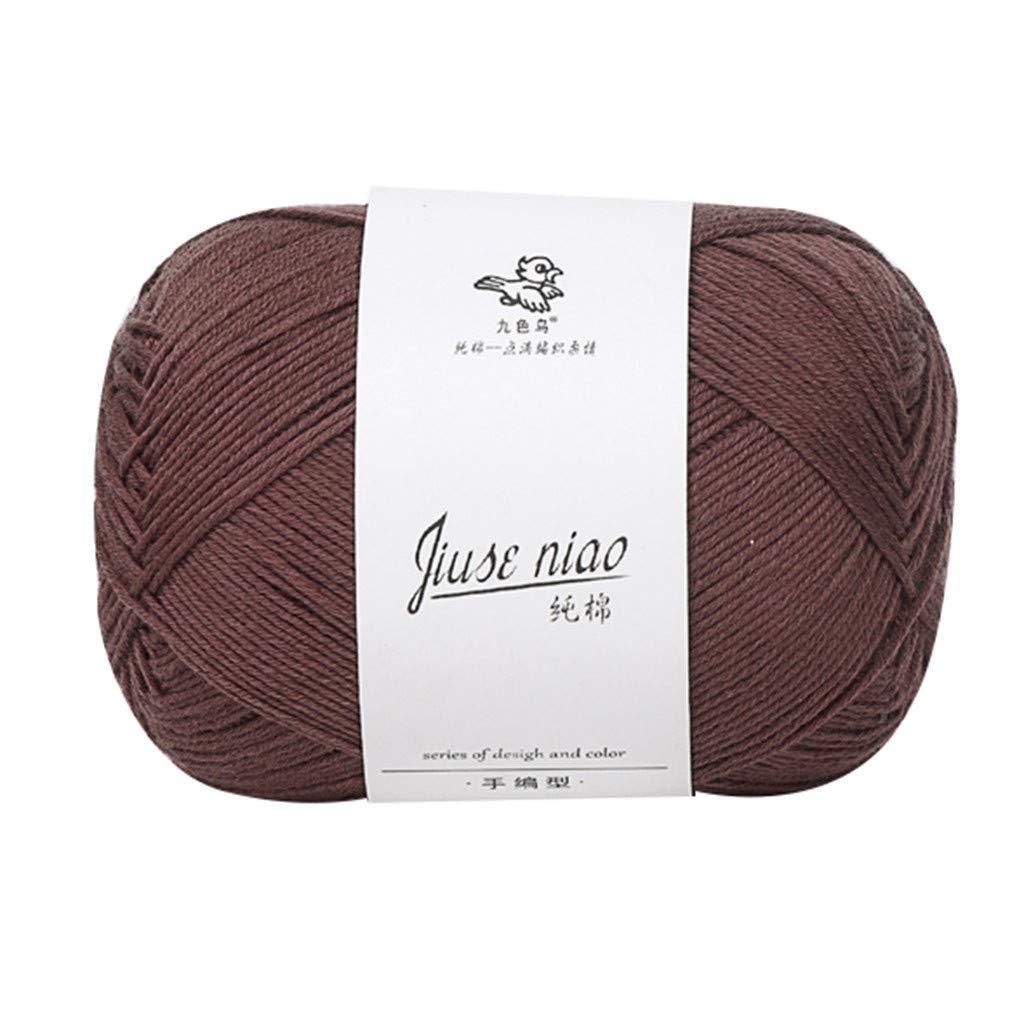 Knitting Yarn Crochet Thread Soft Cotton Yarn for Crochet & Knitting Baby Wool Scarf Line Fine Wool Variety Colored 50g/Skeins N
