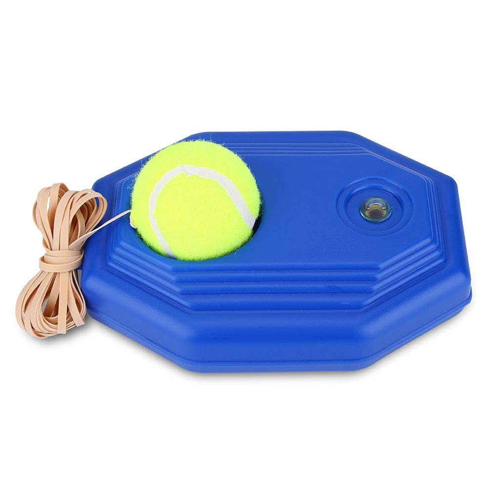 Tennis Training Device, Tennis Ball Back Base Trainer Set With Rubber Elastic Rope For Individual Exercises, Bracket With A Rope For Training For Beginners