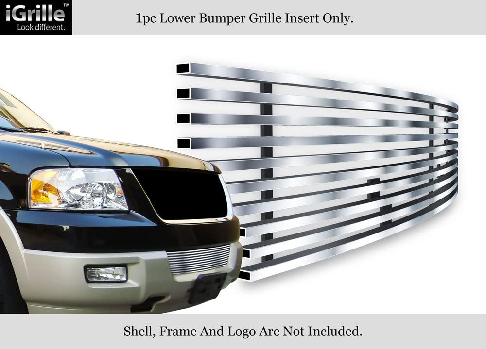 APS Compatible with 03-06 Expedition Bumper Stainless Steel Billet Grille Insert N19-C37358F