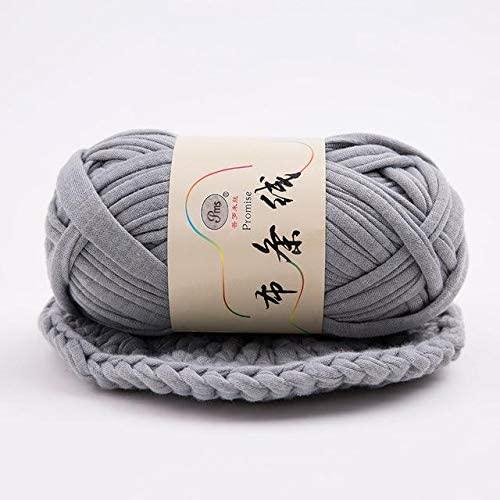 LY 1 Piece 100g/ball Thick Cloth Fabric Strip Yarn 100% Polyester Craft Hand Knitting Crochet DIY Cushion Blanket Cloth Strip (19)