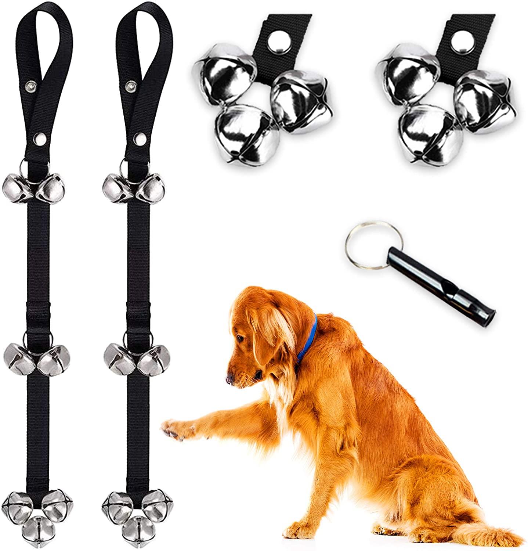 QUXIANG Dog Doorbells Premium Potty Great Dog Bells Adjustable Door Bell Dog Bells for Potty Training Your Puppy The Easy Way - Premium Quality - 7 Extra Large Loud DoorBells 2 Pcs