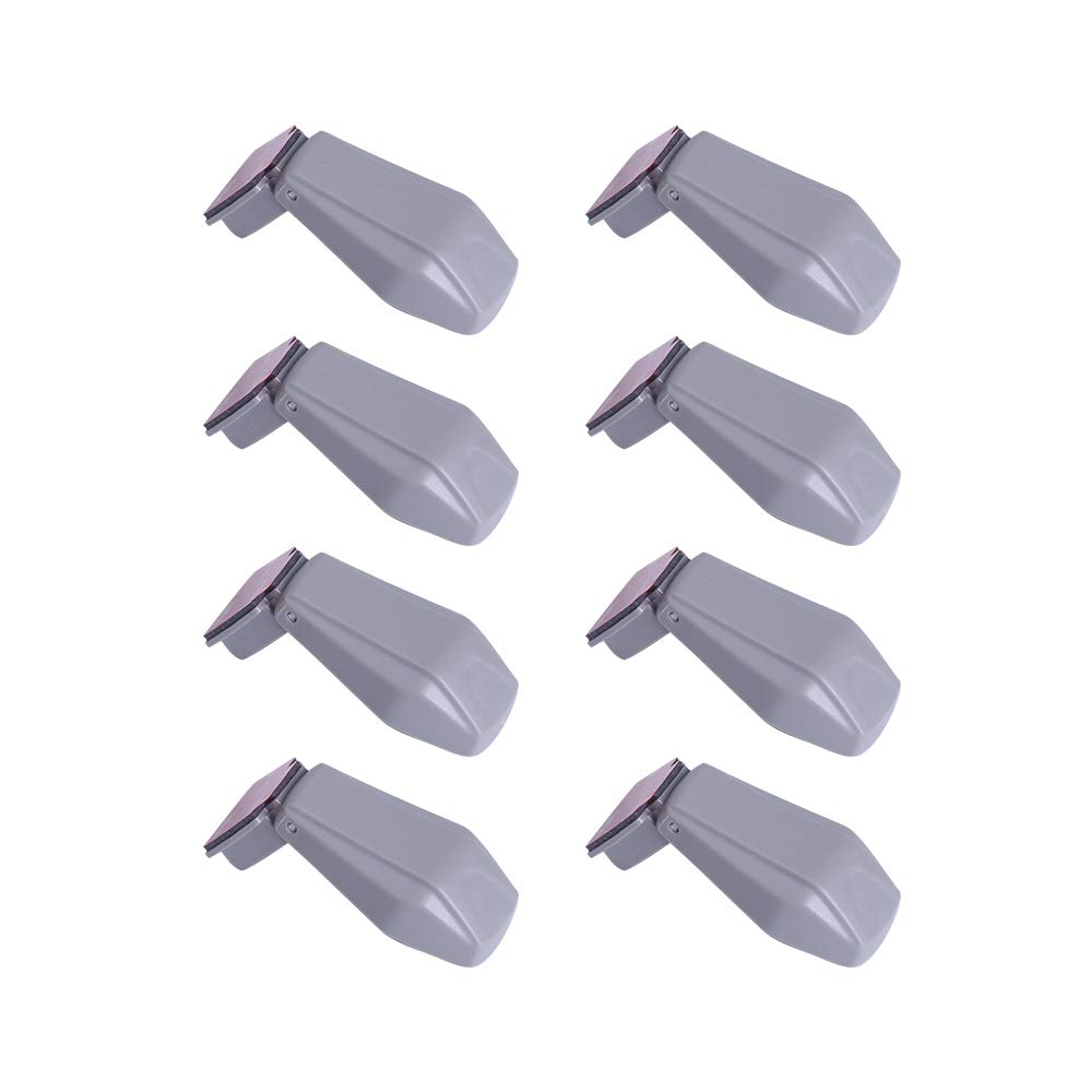 EUDEMON Plastic 8 Pack Kids Proofing Safety Drawer Stoppers Baby Safety Child Proofing Drawer Pinch Guards Easy to Install and Use 3M VHB Adhesive no Tools Need or Drill (Grey)