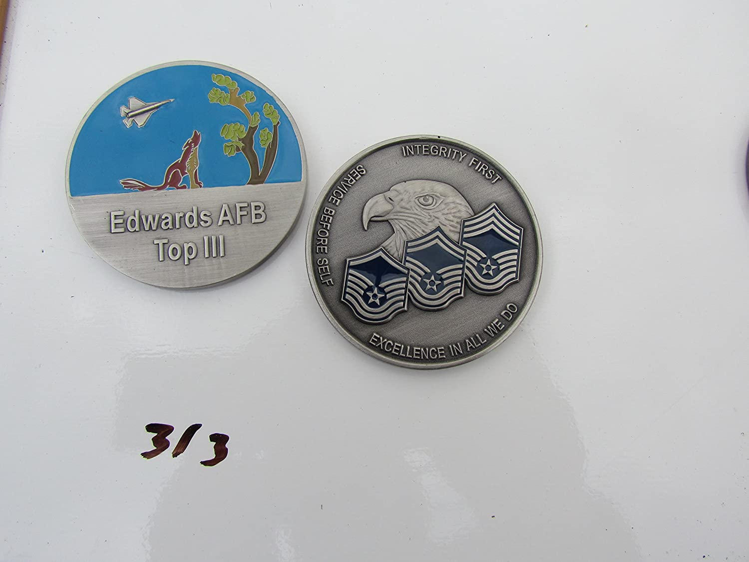 US Edwards AFB Top III Challenge Coin