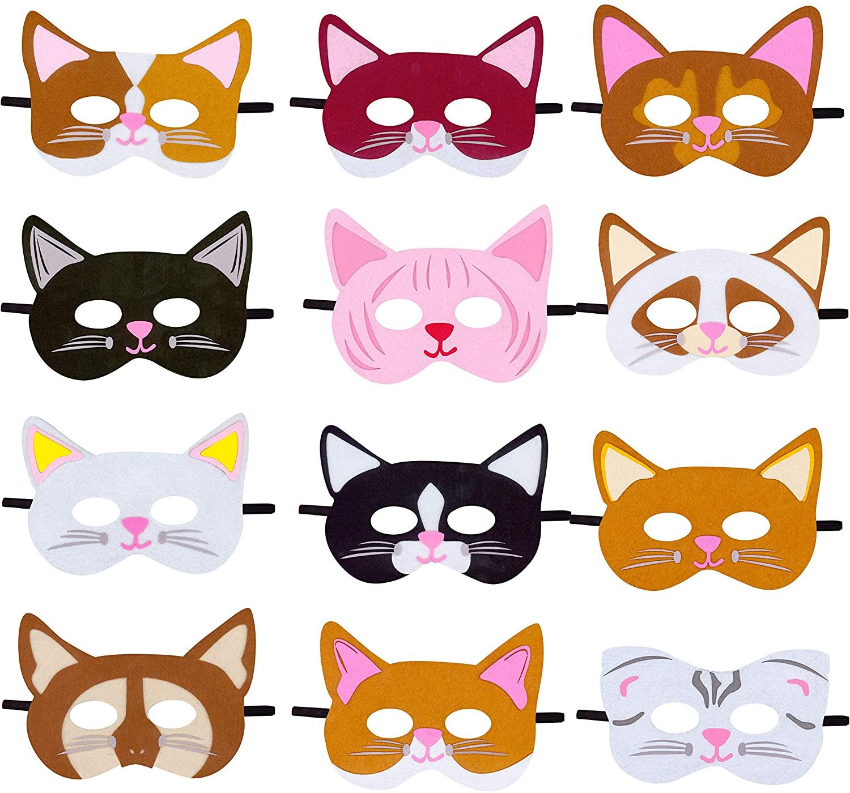 Woodland Animals Farm Animals Forest Animals Cat Masks, Birthday Party Supplies