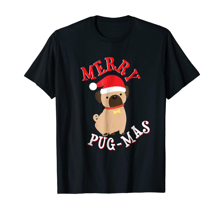Pug-Mas Pug Lovers Merry Christmas Shirt Pug Mom Dad Holiday