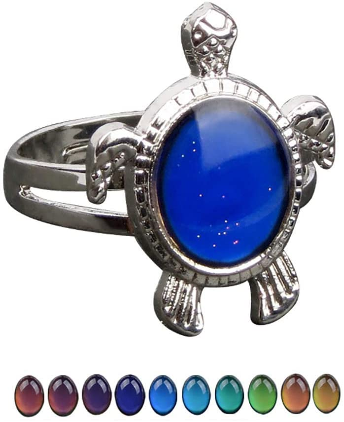 Mood Rings for Girls Adjustable Size Kids and Boys Color Changing Mood Ring