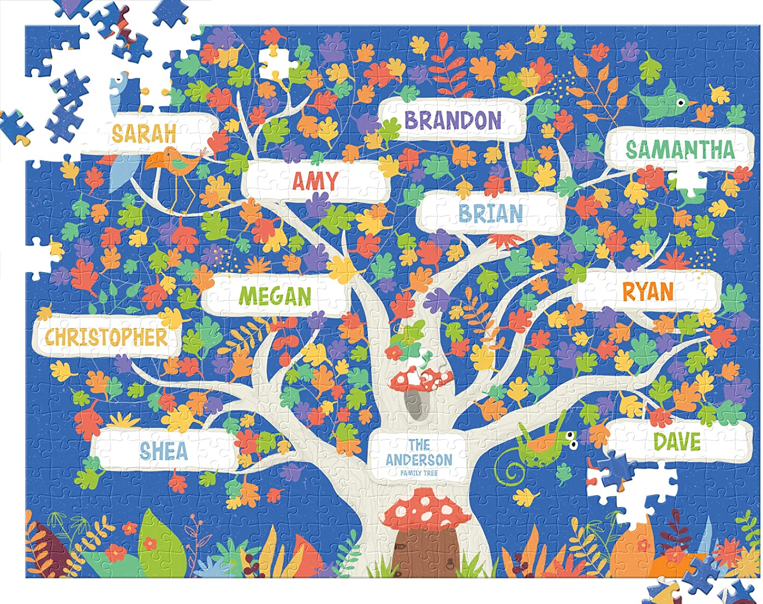 Custom Puzzle for Adults 500 Piece, Family Tree Ancestry Gift, Boredom Buster Activity