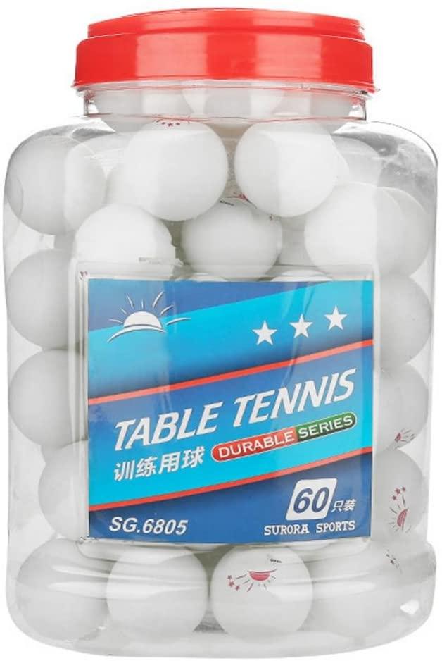 DEWIN Ping Pong Ball - Table Tennis Ball 3-Star Table Tennis Ball Ping Pong Balls for Competition Training Entertainment 60 Pcs