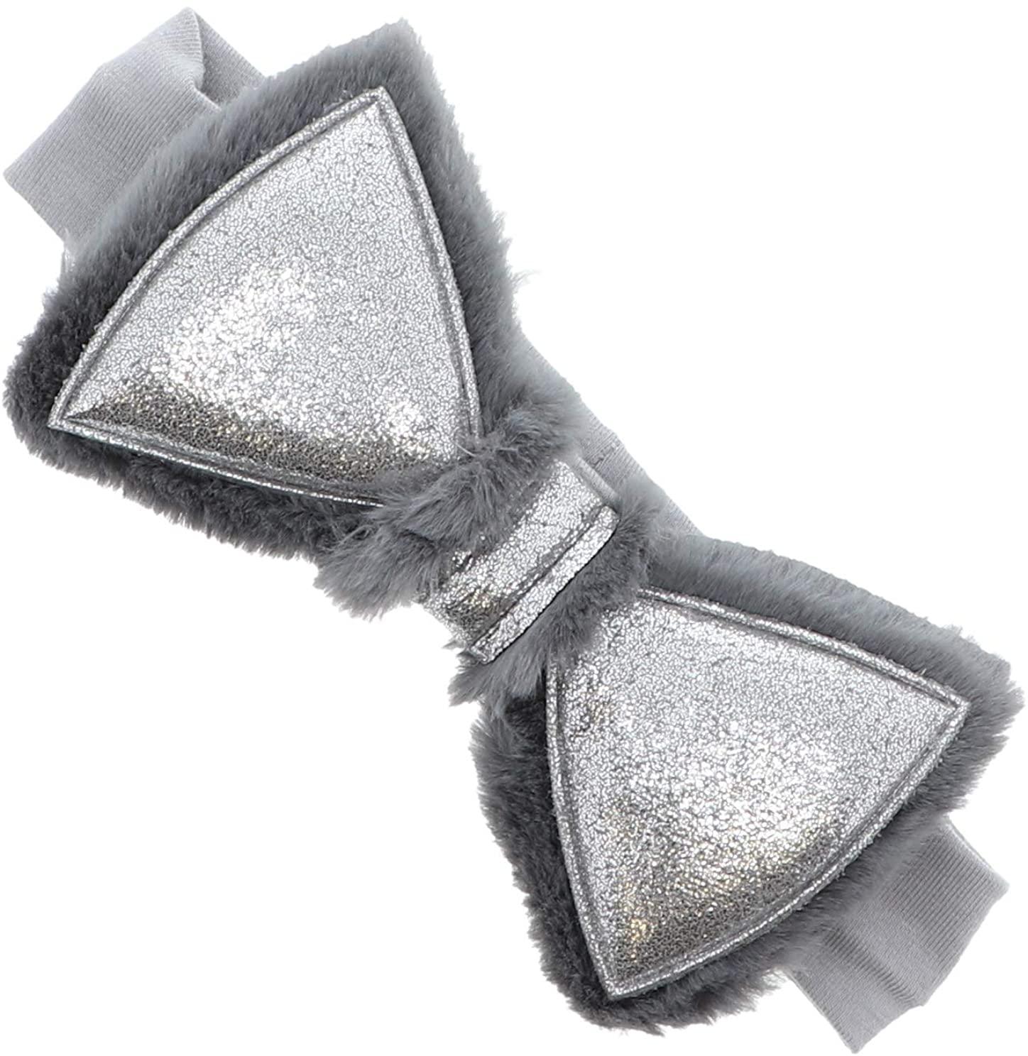 Elegant Sparkly Fur Lined Bow Baby Headband