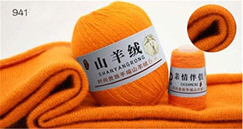 xinchenglove 2.47 Ounces / 4.93 Ounce Cashmere line Knitting Yarn 100% Cashmere Yarn Wool Medium-Thick Hand-Knitted Scarf line Wool Thread Accessory AQ062 (41,2.47 Ounce)