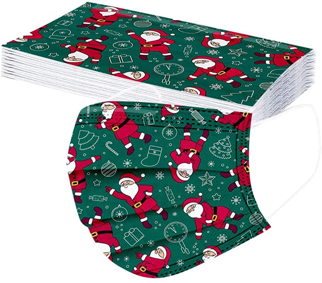 Kids Disposable Face Bandana Christmas 3 Ply Non-Woven Face Protection Dustproof Breathable Facewear