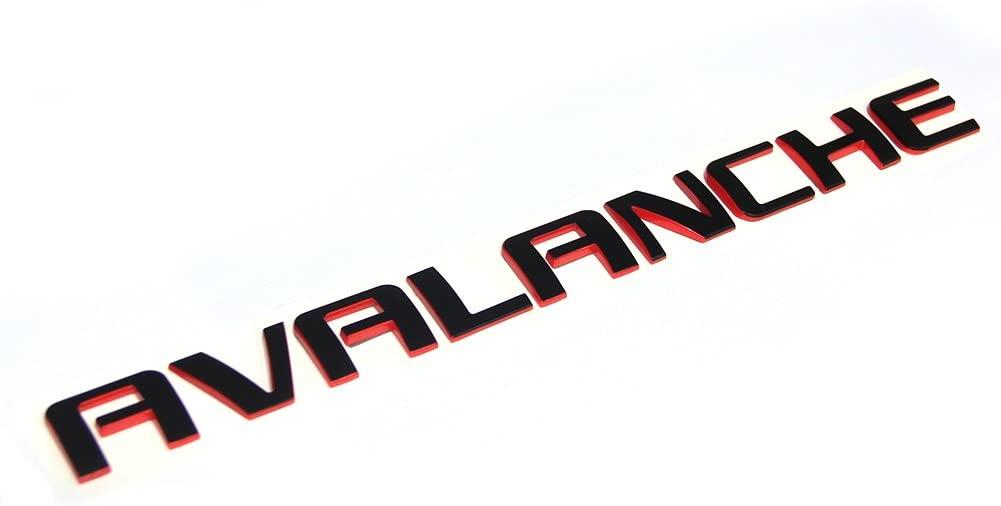 Yoaoo 1x OEM Avalanche Nameplate Redline Letter Emblem 3D Badge for Avalanche Original Red Line