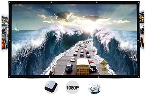 300 Inches Wall Mount Outdoor Movie Projector Projection Screen Curtain Film (4:3)