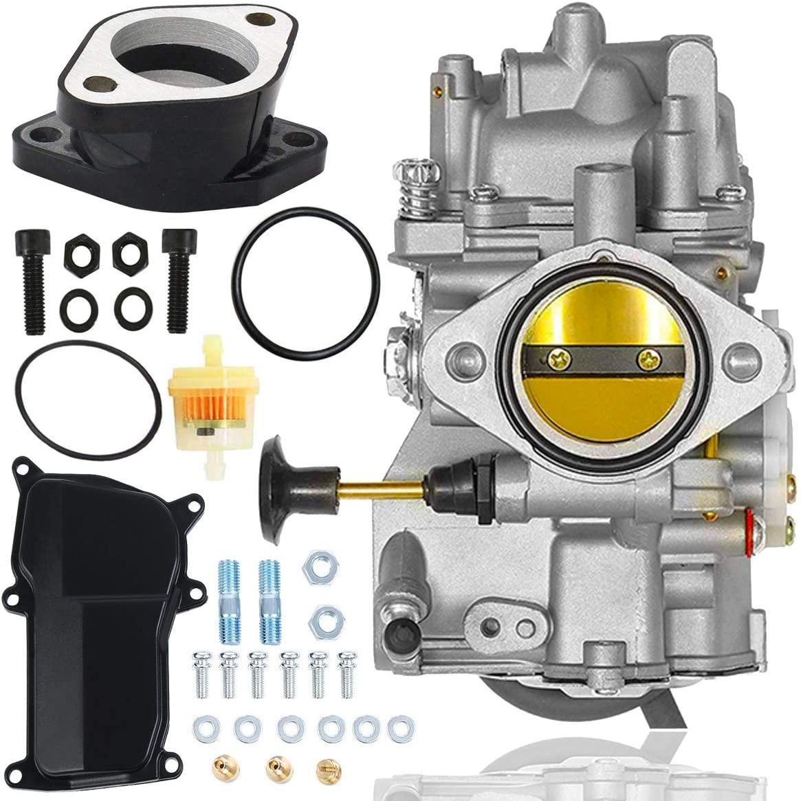 YFM350 Carburetor+Intake Manifold for ATV Yamaha Warrior 350 1987-2004/1987-1998 Big Bear 350 YFM350/1987-1990 & 1992-1995 Moto-4 350 YFM350