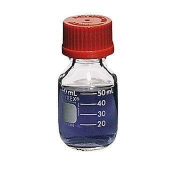 Pyrex 1395-50 Brand 1395 Media Storage Bottle w/Screw Cap, 50 mL